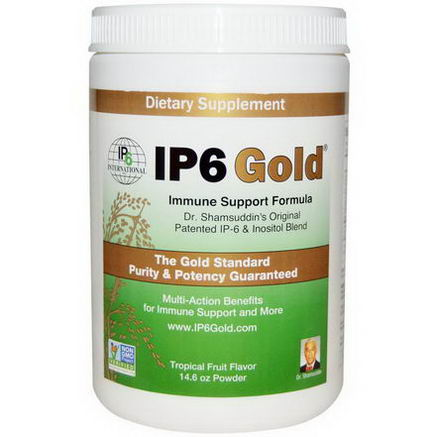 IP-6 International, IP6 Gold, Immune Support Formula, Tropical Fruit Flavor, 14.6oz Powder