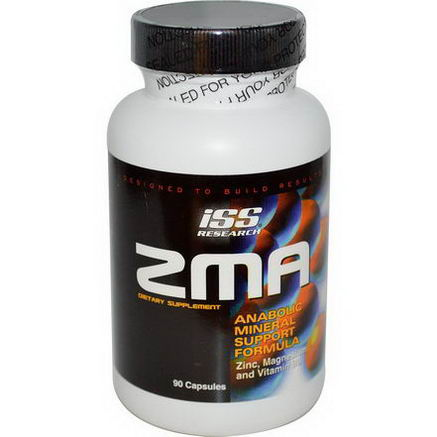ISS Research, ZMA, Anabolic Mineral Support Formula, 90 Capsules