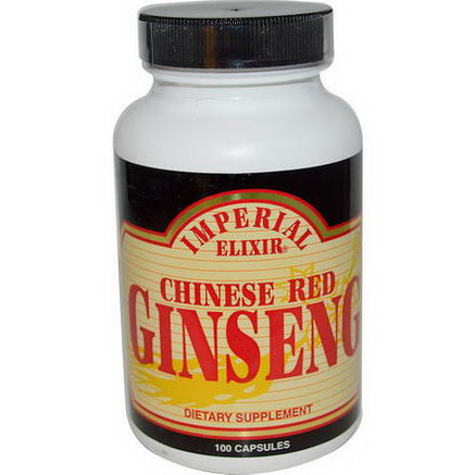 Imperial Elixir, Chinese Red Ginseng, 100 Capsules