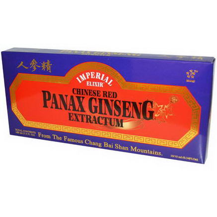 Imperial Elixir, Chinese Red Panax Ginseng Extractum, 10 Bottles, 0.34 fl oz (10 ml) Each