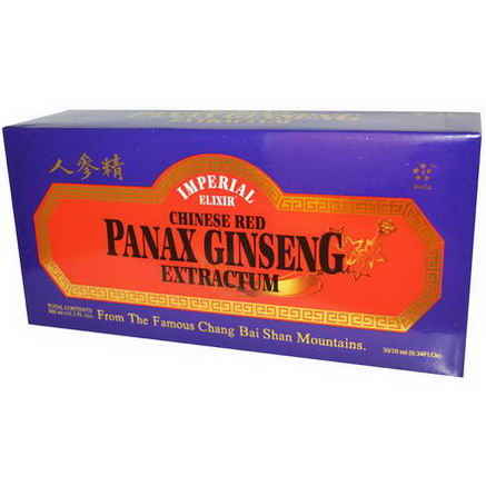 Imperial Elixir, Chinese Red Panax Ginseng Extractum, 30 Bottles, 0.34 fl oz (10 ml) Each