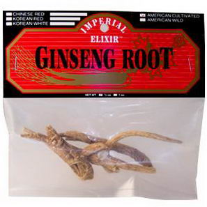 Imperial Elixir, Ginseng Root, American Cultivated, 1/2oz