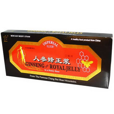 Imperial Elixir, Ginseng and Royal Jelly, 10 Bottles, 0.34 fl oz (10 ml) Each