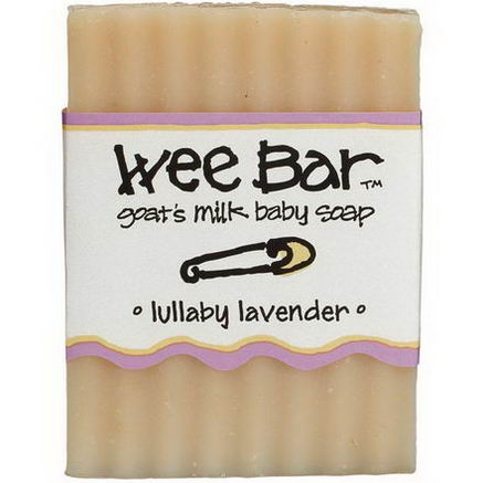 Indigo Wild, Wee Bar, Goat's Milk Baby Soap, Lullaby Lavender, 3oz Bar