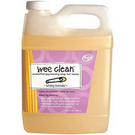 Indigo Wild, Wee Clean, Aromatherapy Laundry Soap for Babies, Lullaby Lavender, 32 fl oz (. 94 L)