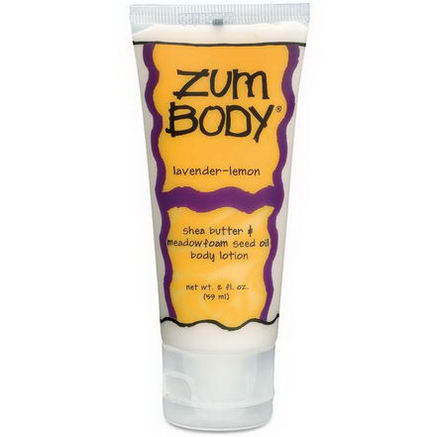 Indigo Wild, Zum Body, Shea Butter & Meadowfoam Seed Oil Body Lotion, Lavender-Lemon, 2 fl oz (59 ml)