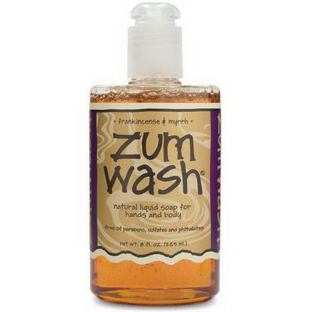 Indigo Wild, Zum Wash, Natural Liquid Soap for Hands and Body, Frankincense & Myrrh, 8 fl oz (225 ml)