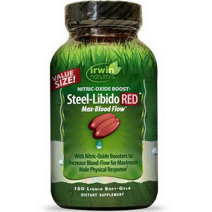 Irwin Naturals, Steel-Libido RED, Max-Blood Flow, 150 Liquid Soft-Gels