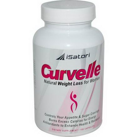 Isatori, Curvelle, Natural Weight Loss for Women, 100 Capsules
