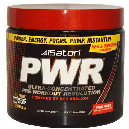 Isatori, PWR Ultra-Concentrated Pre-Workout Revolution, Fruit Punch, 5.64oz (160g)