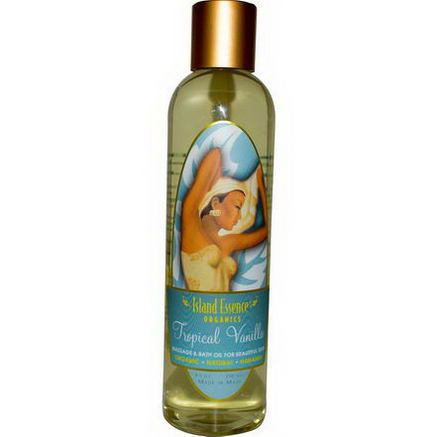 Island Essence, Organics, Massage & Bath Oil, Tropical Vanilla, 8.5oz (250 ml)