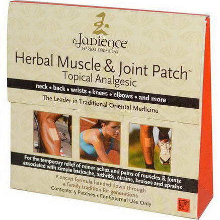 Jadience Herbal Formulas, Herbal Muscle & Joint Patch, 5 Patches