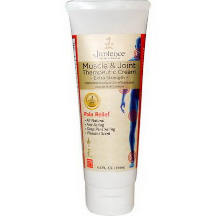 Jadience Herbal Formulas, Muscle & Joint Therapeutic Cream, Extra Strength, 4.5 fl oz (134 ml)
