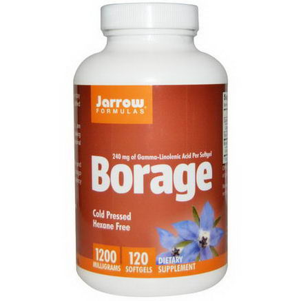 Jarrow Formulas, Borage, 1200mg, 120 Softgels
