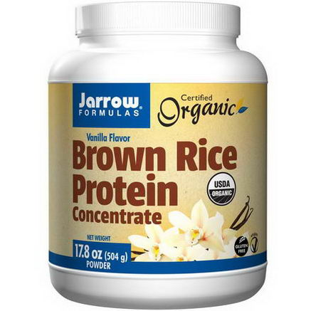 Jarrow Formulas, Brown Rice Protein Concentrate, Vanilla Flavor, 17.8oz (504g) Powder