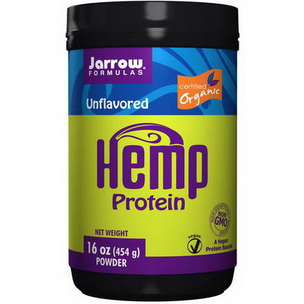 Jarrow Formulas, Hemp Protein Powder, Unflavored, 16oz (454g)