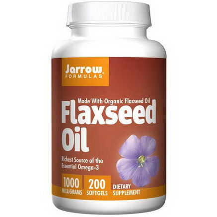 Jarrow Formulas, Organic, Flaxseed Oil, 1000mg, 200 Softgels