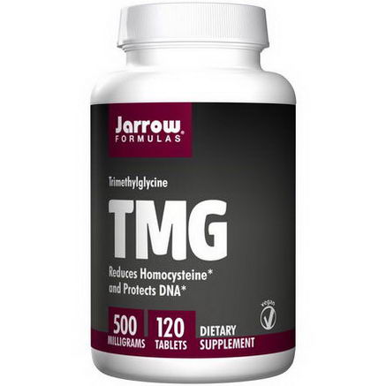 Jarrow Formulas, TMG, Trimethylglycine, 500mg, 120 Tablets