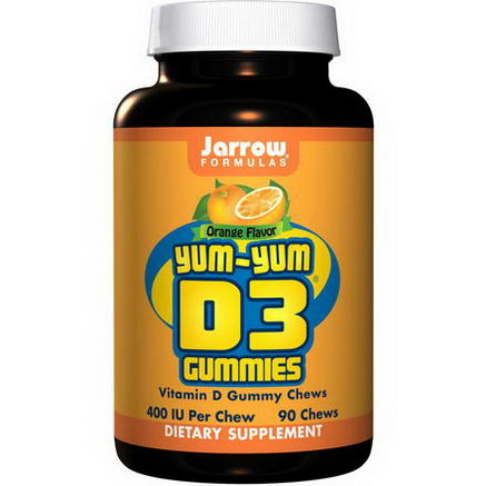 Jarrow Formulas, tasty-tasty D3 Gummies, Orange Flavor, 90 Chews