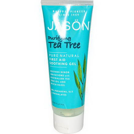 Jason Natural, First Aid Soothing Gel, Purifying Tea Tree, 4oz (113g)