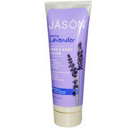 Jason Natural, Hand & Body Lotion, Calming Lavender, 8oz (227g)