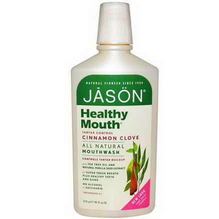 Jason Natural, Healthy Mouth, Tartar Control, Cinnamon Clove, 16 fl oz (473 ml)