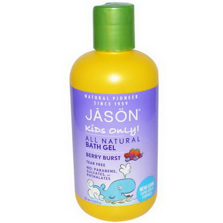 Jason Natural, Kids Only! All Natutral Bath Gel, Berry Burst, 8 fl oz (237 ml)