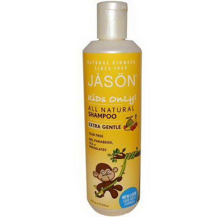 Jason Natural, Kids Only, Shampoo, Extra Gentle, 17.5 fl oz (517 ml)