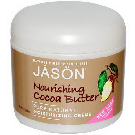 Jason Natural, Moisturizing Creme, Nourishing Cocoa Butter, 4oz (113g)