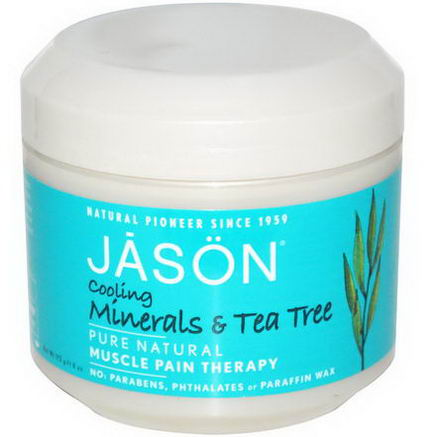 Jason Natural, Muscle Pain Therapy, Cooling Minerals & Tea Tree, 4oz (113g)