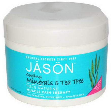 Jason Natural, Muscle Pain Therapy, Cooling Minerals & Tea Tree, 8oz (227g)