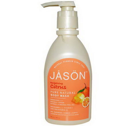 Jason Natural, Pure Natural Body Wash, Revitalizing Citrus, 30 fl oz (887 ml)