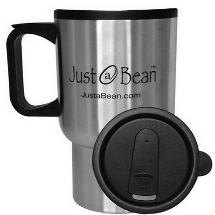 Just A Bean Organic Coffee, Travel Coffee Mug, 12oz Mug