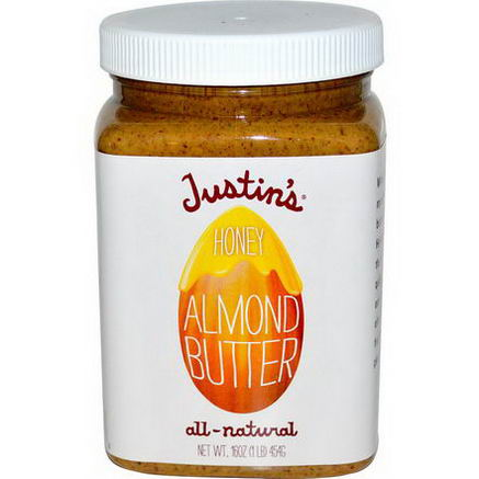 Justin's Nut Butter, Honey Almond Butter, 16oz (454g)