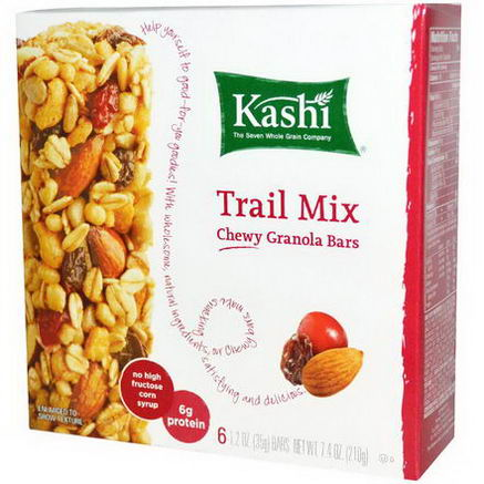 Kashi, Chewy Granola Bars, Trail Mix, 6 Bars, 1.2oz (35g)