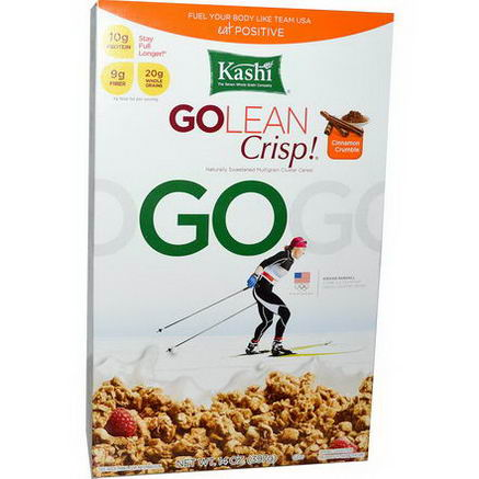 Kashi, GoLean Crisp, Naturally Sweetened Multigrain Cluster Cereal, Cinnamon Crumble, 14oz (397g)