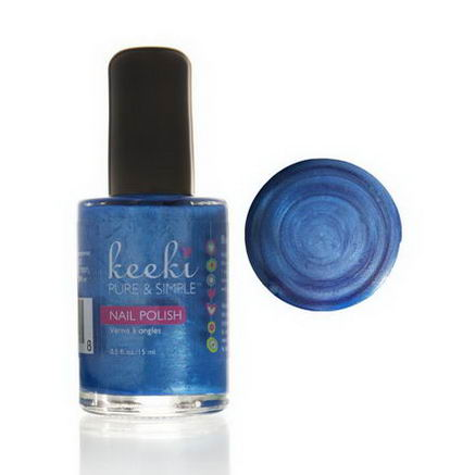 Keeki Pure & Simple, Nail Polish, Blue Slushie, 0.5 fl oz (15 ml)