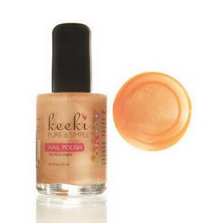 Keeki Pure & Simple, Nail Polish, Peach Cobbler, 0.5 fl oz (15 ml)