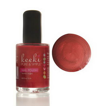 Keeki Pure & Simple, Nail Polish, Strawberry Shortcake, 0.5 fl oz (15 ml)