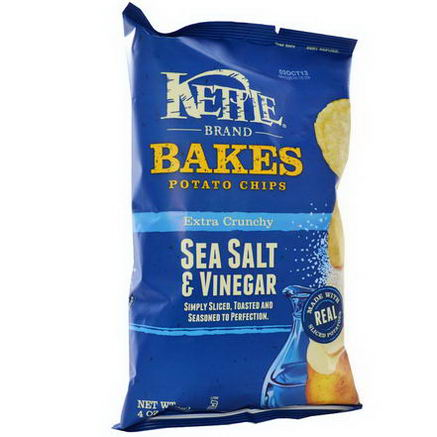 Kettle Foods, Baked Potato Chips, Sea Salt & Vinegar, 4oz (113g)