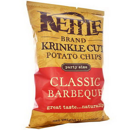 Kettle Foods, Krinkle Cut Potato Chips, Classic Barbeque, 13oz (369g)