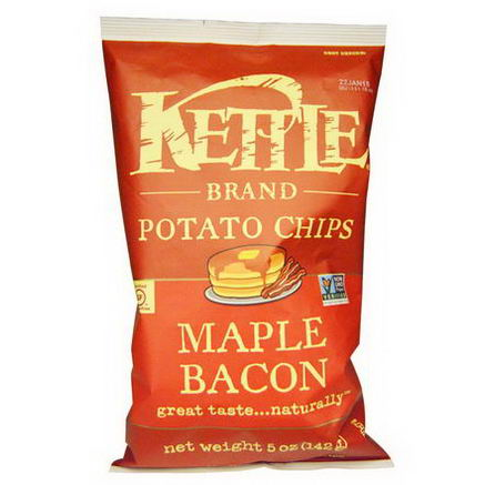 Kettle Foods, Potato Chips, Maple Bacon, 5oz (142g)