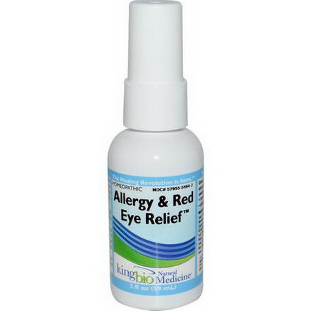 King Bio Homeopathic, Allergy & Red Eye Relief, 2 fl oz (59 ml)