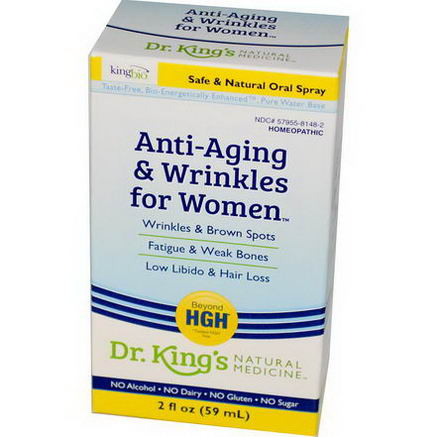 King Bio Homeopathic, Anti-Aging & Wrinkles for Women, 2 fl oz (59 ml)