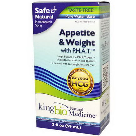 King Bio Homeopathic, Appetite & Weight Control, 2 fl oz (59 ml)
