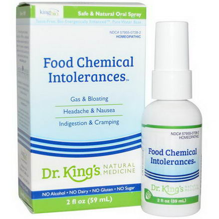 King Bio Homeopathic, Food Chemical Intolerances, 2 fl oz (59 ml)