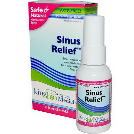 King Bio Homeopathic, Sinus Relief, 2 fl oz (59 ml)