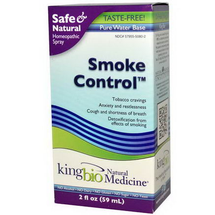 King Bio Homeopathic, Smoke Control, 2 fl oz (59 ml)