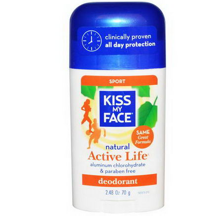 Kiss My Face, Active Life, Sport Deodorant, 2.48oz (70g)