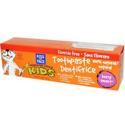 Kiss My Face, Obsessively Natural Kids, Toothpaste, Berry Smart, 4oz (113g)